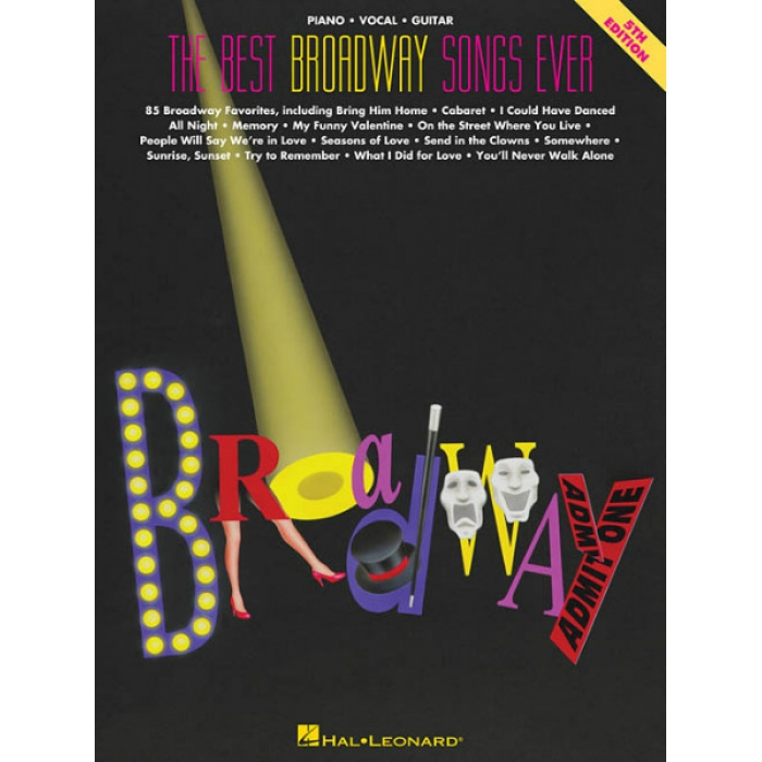 The best broadway songs ever piano vocal guitar for The best house music ever