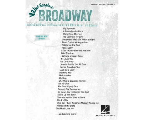 Broadway Value Songbooks (Piano/Vocal/Chords)