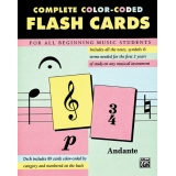 Complete Color-Coded Flash Cards - For All Beginning Music Students