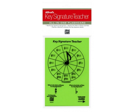 Alfred's Key Signature Teacher All-in-One Flashcard (Green)