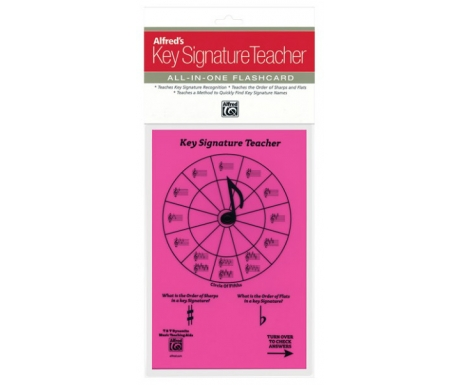 Alfred's Key Signature Teacher All-in-One Flashcard (Pink)