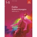 Cello Scales & Arpeggios ABRSM Grades 1-5