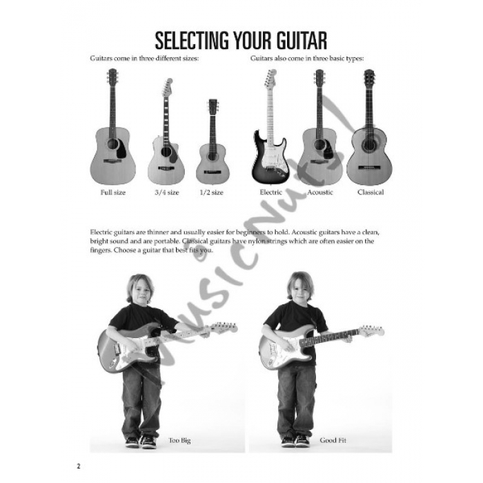 hal leonard guitar method guitar for kids book 1 with audio access. Black Bedroom Furniture Sets. Home Design Ideas