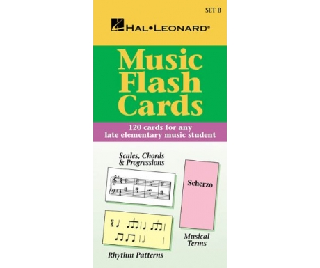 Music Flash Cards - 120 Cards for any Late Elementary Music Student (Hal Leonard Set B)