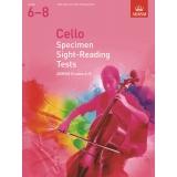 Cello Specimen Sight-Reading Tests ABRSM Grades 6-8