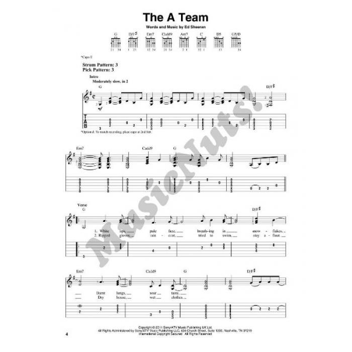 Sheeran (Easy Guitar with Notes & TAB)