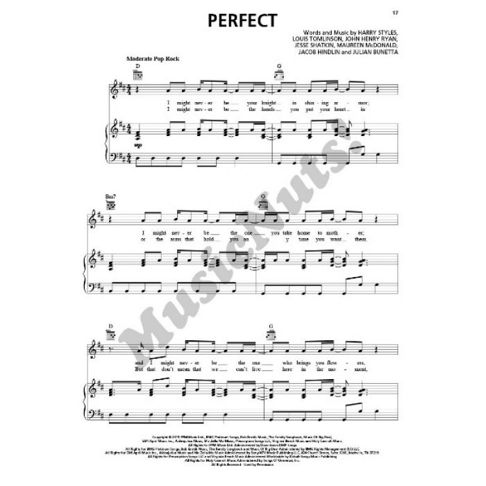 Direction - Made in the A.M. (Piano/Vocal/Guitar)