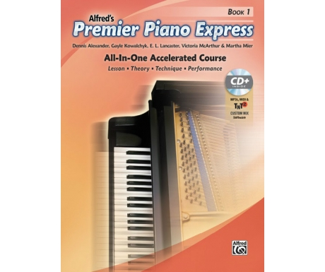 Alfred's Premier Piano Express Book 1 (with CD, Online Audio & Software)