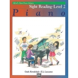 Alfred's Basic Piano Library Sight Reading Book Level 2