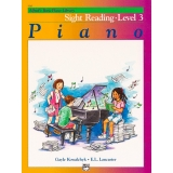 Alfred's Basic Piano Library Sight Reading Book Level 3