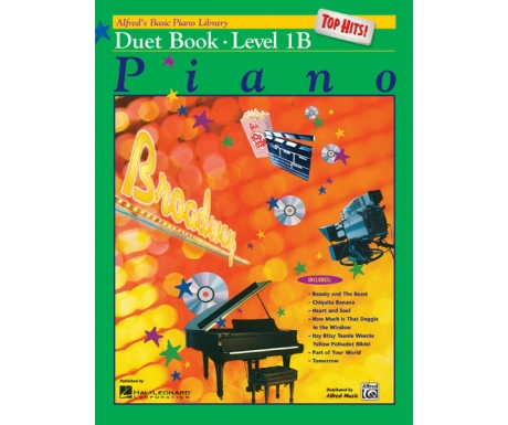 Alfred's Basic Piano Library Top Hits! Duet Book Level 1B
