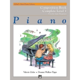 Alfred's Basic Piano Library Composition Book Complete Level 1 for the Later Beginner