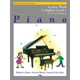 Alfred's Basic Piano Library Lesson Book Complete Level 1 for the Later Beginner