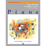 Alfred's Basic Piano Library Sight Reading Complete Level 1 for the Later Beginner