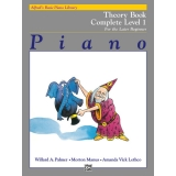 Alfred's Basic Piano Library Theory Book Complete Level 1 for the Later Beginner