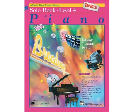 Alfred's Basic Piano Library Top Hits! Solo Book Level 4 (with CD)