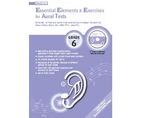 Essential Elements & Exercises for Aural Tests Grade 6 (with CD)
