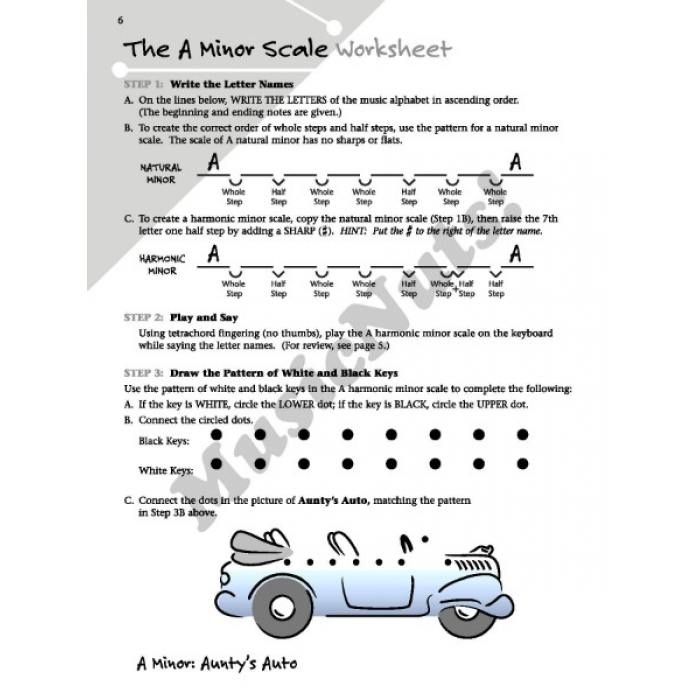 Minor Scale Picture Workbook