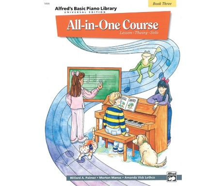 Alfred's Basic Piano Library All-in-One Course Book Three (Lesson ∙ Theory ∙ Solo)