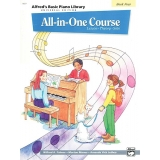 Alfred's Basic Piano Library All-in-One Course Book Four (Lesson ∙ Theory ∙ Solo)