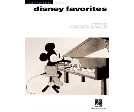 Disney Favorites (Jazz Piano Solos) Volume 51