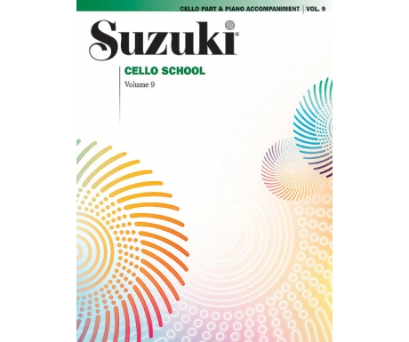 Suzuki Cello School Volume 9: Cello Part & Piano Accompaniment