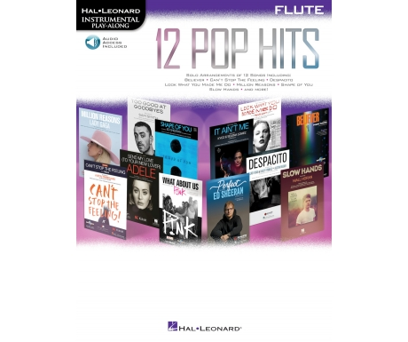 12 Pop Hits - Flute Instrumental Play-Along (with Audio Access)