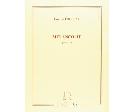 Francis Poulenc: Mélancolie pour Piano
