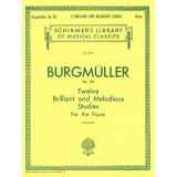 Burgmüller Op. 105 - Twelve Brilliant and Melodious Studies for the Piano