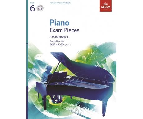 Piano Exam Pieces ABRSM Grade 6 2019 & 2020 (with CD)