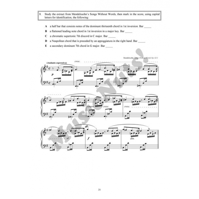 Practice In Music Theory Grade 8 With Answers