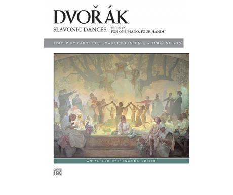 Dvořák: Slavonic Dances - Opus 72 for One Piano, Four Hands