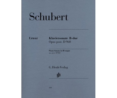 Schubert: Klaviersonate B-dur Opus post. D 960 (Piano Sonata in B♭ major op. post. D 960)