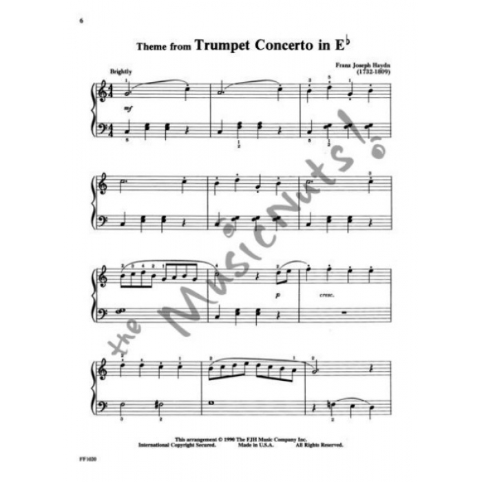 All Music Chords haydn trumpet concerto sheet music : Piano Classics Level 2B
