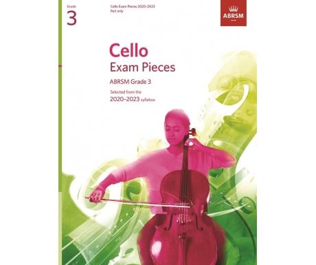 Cello Exam Pieces ABRSM Grade 3 2020-2023 (Part only)