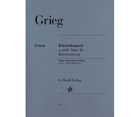 Grieg: Klavierkonzert a-moll Opus 16 Klavierauszug (Piano Concerto in a minor op. 16 ∙ Piano Reduction)