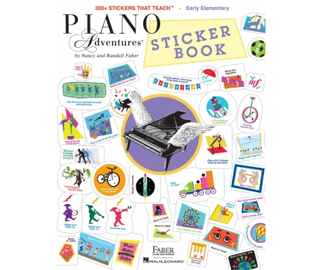 Piano Adventures Sticker Book - 300+ Stickers That Teach (Early Elementary)