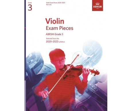 Violin Exam Pieces ABRSM Grade 3 2020-2023 (Part only)