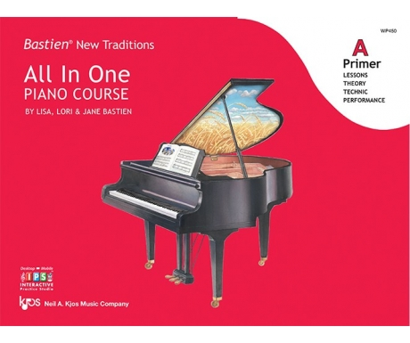 Bastien New Traditions All In One Piano Course Primer A (with Interactive Practice Studio)
