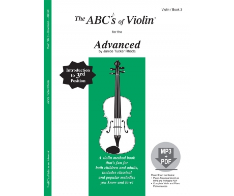 The ABCs of Violin for the Advanced - Book 3 (with CD)
