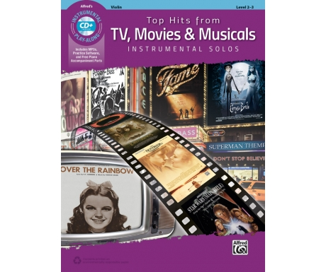 Top Hits from TV, Movies & Musicals - Violin (with CD)