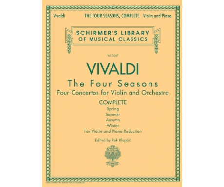 Vivaldi - The Four Seasons for Violin and Piano Reduction (Complete)