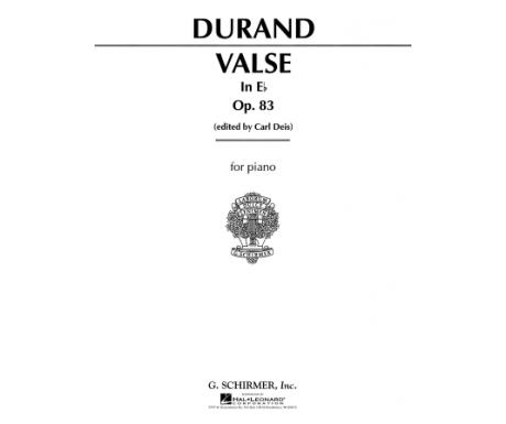 Durand: Valse in E♭ Op. 83