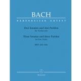 Bach: Drei Sonaten und drei Partiten für Violine solo BWV 1001-1006