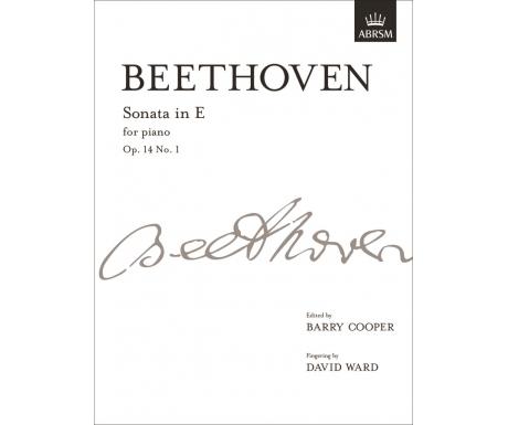 Beethoven: Sonata in E for piano Op. 14 No. 1
