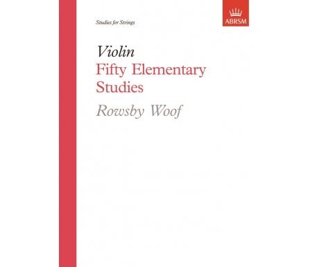 Violin Fifty Elementary Studies