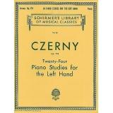 Czerny Op. 718 - Twenty-Four Piano Studies for the Left Hand