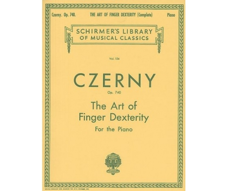Czerny Op. 740 - The Art of Finger Dexterity for the Piano (Complete)