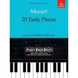 Mozart: 25 Early Pieces (Easier Piano Pieces No. 67)