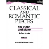 Classical and Romantic Pieces for Violin and Piano Book 4